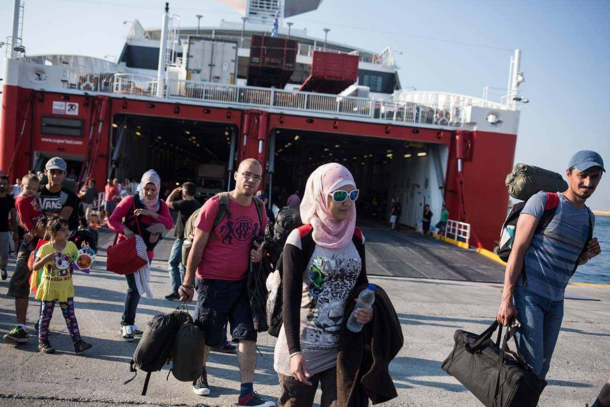Athens, July 3, 2015. The group arrives in the port of the Greek capitale to start the journey throughout the Balkans.
