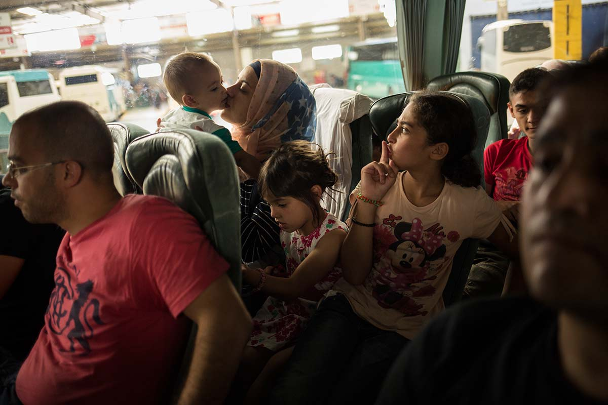 Athena, July 4, 2015. In the bus towards Thessaloniki.
