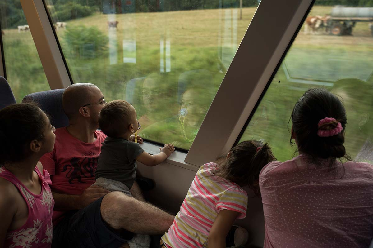 In a commuter train between Nuremberg and Hamburg, July 18, 2015.