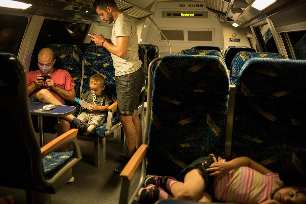 In an other commuter train between Nuremberg and Hamburg, July 18, 2015.